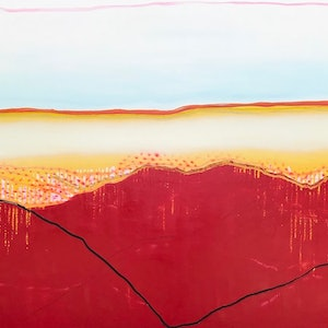 (CreativeWork) Sahara by Yvette Swan. oil-painting. Shop online at Bluethumb.