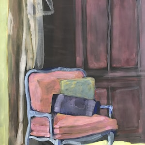 (CreativeWork) Armchair by Chantal Morgan. acrylic-painting. Shop online at Bluethumb.