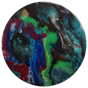 (CreativeWork) Midnight affair  by Rebecca Coppolino. resin. Shop online at Bluethumb.
