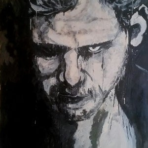(CreativeWork) Evil within Limited Edition Print 1/40 by Leah Justyce (BaVa). oil-painting. Shop online at Bluethumb.