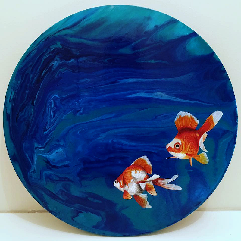 (CreativeWork) Into the Deep by Bec Bartell. arcylic-painting. Shop online at Bluethumb.