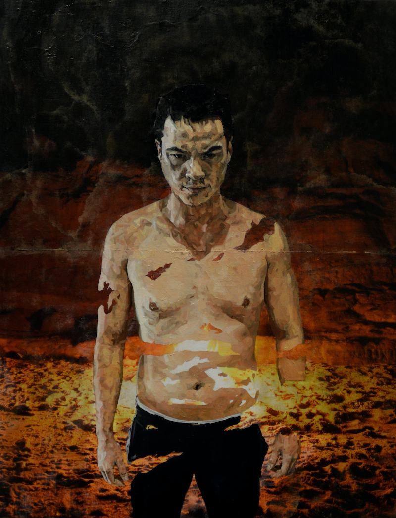 (CreativeWork) Untitled  by Julius Killerby. oil-painting. Shop online at Bluethumb.