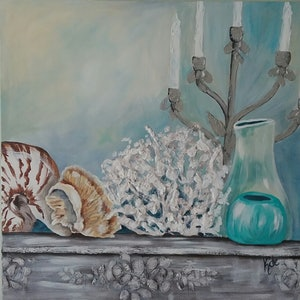 (CreativeWork) Coral by Kathryn deBoer Ipsen. acrylic-painting. Shop online at Bluethumb.