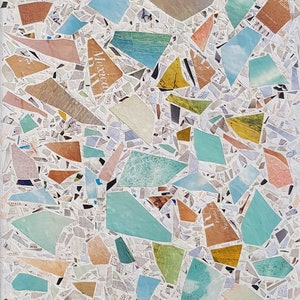 (CreativeWork) Terrazzo 2 by Keren Rubinstein. mixed-media. Shop online at Bluethumb.