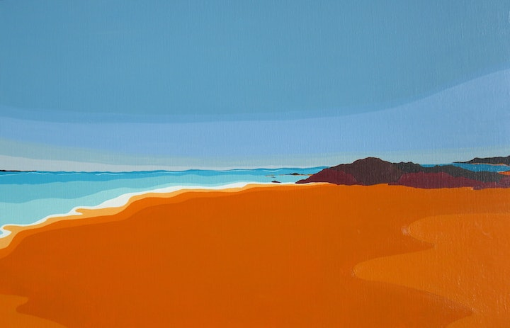 (CreativeWork) Seascape by Marian Quigley. arcylic-painting. Shop online at Bluethumb.