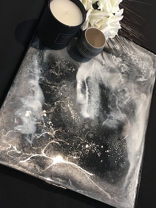 (CreativeWork) MARINE / STARLIGHT - DOUBLE SIDED  RESIN TABLE CENTREPIECE / TRAY by Deborah O'Loughlin. Resin. Shop online at Bluethumb.