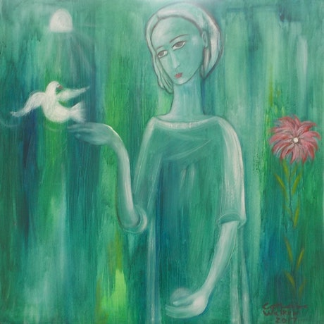 """(CreativeWork)  """" I Have to let it go """" by Catherine Walker. Acrylic Paint. Shop online at Bluethumb."""