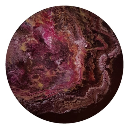 (CreativeWork) Luna by Rebecca Coppolino. resin. Shop online at Bluethumb.