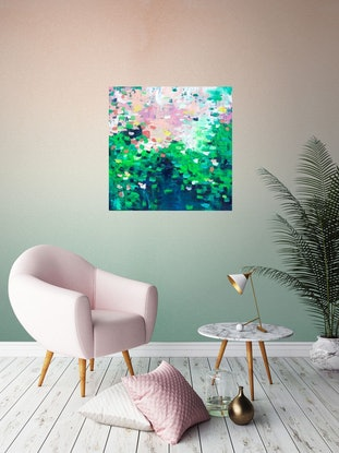 (CreativeWork) Eden - Oil on canvas ready to hang by Belinda Nadwie. Oil. Shop online at Bluethumb.
