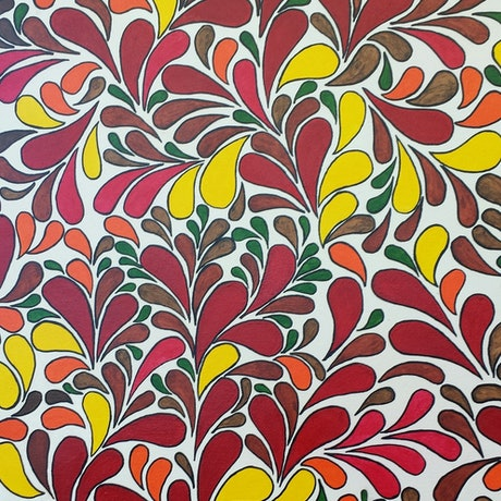 (CreativeWork) Spontaneous by Helen Saigal. Acrylic Paint. Shop online at Bluethumb.