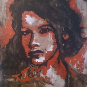 (CreativeWork) Miss Education by Lou White. arcylic-painting. Shop online at Bluethumb.