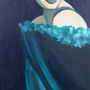 (CreativeWork) Adelina by Lou White. arcylic-painting. Shop online at Bluethumb.
