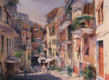 (CreativeWork) A Street in The Sun Ed. 1 of 30 by Richard(Tiejun) Chao. print. Shop online at Bluethumb.