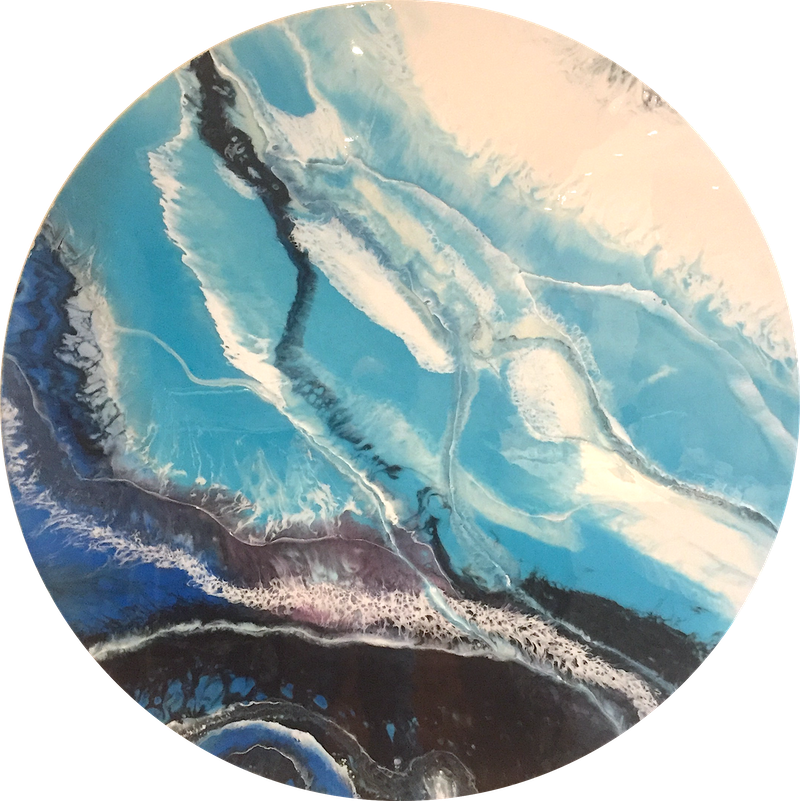 (CreativeWork) BLUE LAGOON by Jenny Dumont. arcylic-painting. Shop online at Bluethumb.