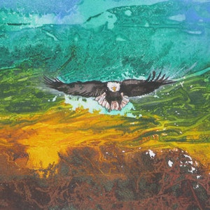 (CreativeWork) Freedom by Marty Foster. mixed-media. Shop online at Bluethumb.