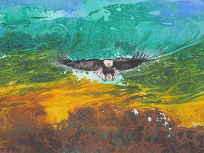 (CreativeWork) Freedom - Copy by Marty Foster. mixed-media. Shop online at Bluethumb.