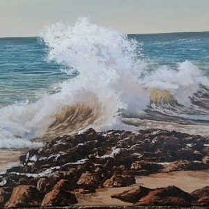 (CreativeWork) CLASHING WAVES Ed. 4 of 30 by Margaret HADFIELD. print. Shop online at Bluethumb.