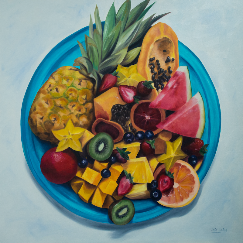 (CreativeWork) Bounty by Mia Laing. oil-painting. Shop online at Bluethumb.