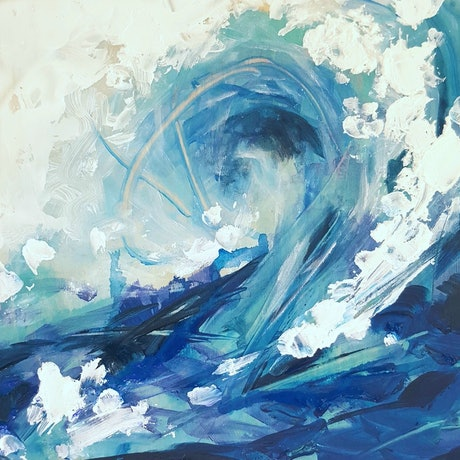 (CreativeWork) Waiting for my wave by Sumei chew. Mixed Media. Shop online at Bluethumb.