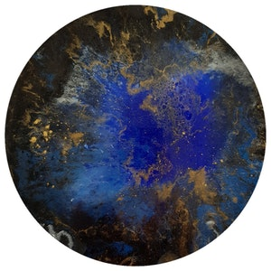 (CreativeWork) Galaxy Entrapment  by Rebecca Coppolino. resin. Shop online at Bluethumb.