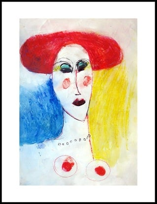 (CreativeWork) The Madam  by John Graham. Mixed Media. Shop online at Bluethumb.