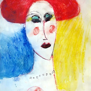 (CreativeWork) The Madam  by John Graham. mixed-media. Shop online at Bluethumb.