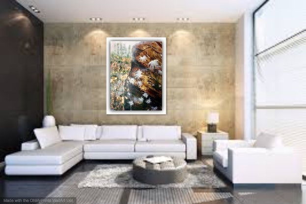 (CreativeWork) The Traveller's Dower 76x102x3 by Louise Croese. #<Filter:0x00007fbc89087aa8>. Shop online at Bluethumb.