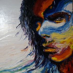 (CreativeWork) Nick Cave - The Good Son by Richard Roper. oil-painting. Shop online at Bluethumb.