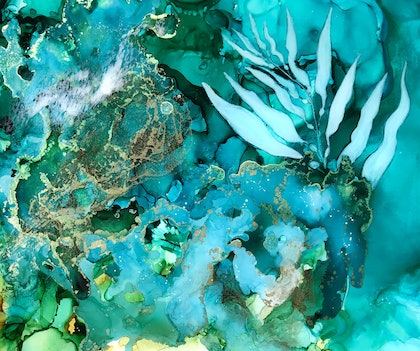 (CreativeWork) Flow by Donna Maloney. resin. Shop online at Bluethumb.