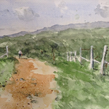 (CreativeWork) King Valley by Bernd Rieve. Watercolour Paint. Shop online at Bluethumb.