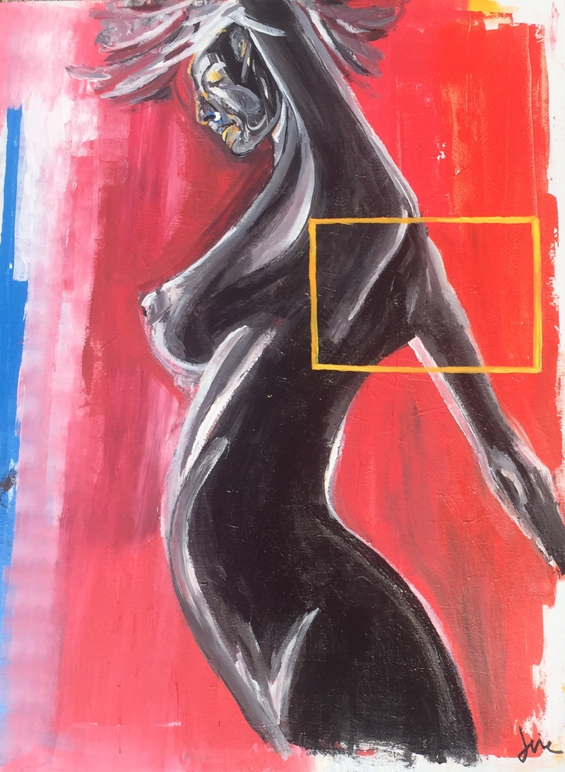 (CreativeWork) The YES vote - Dancing by Joie Swepson. arcylic-painting. Shop online at Bluethumb.