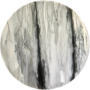 (CreativeWork) Black Lace Agate 2017 by Virginia Harding. arcylic-painting. Shop online at Bluethumb.
