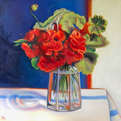 (CreativeWork) (SALE- NB. unframed) Fresh and cheerful  by kirsty mcintyre. Oil Paint. Shop online at Bluethumb.