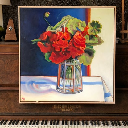 (CreativeWork) (SALE- NB. now framed) Fresh and cheerful  by kirsty mcintyre. Oil Paint. Shop online at Bluethumb.