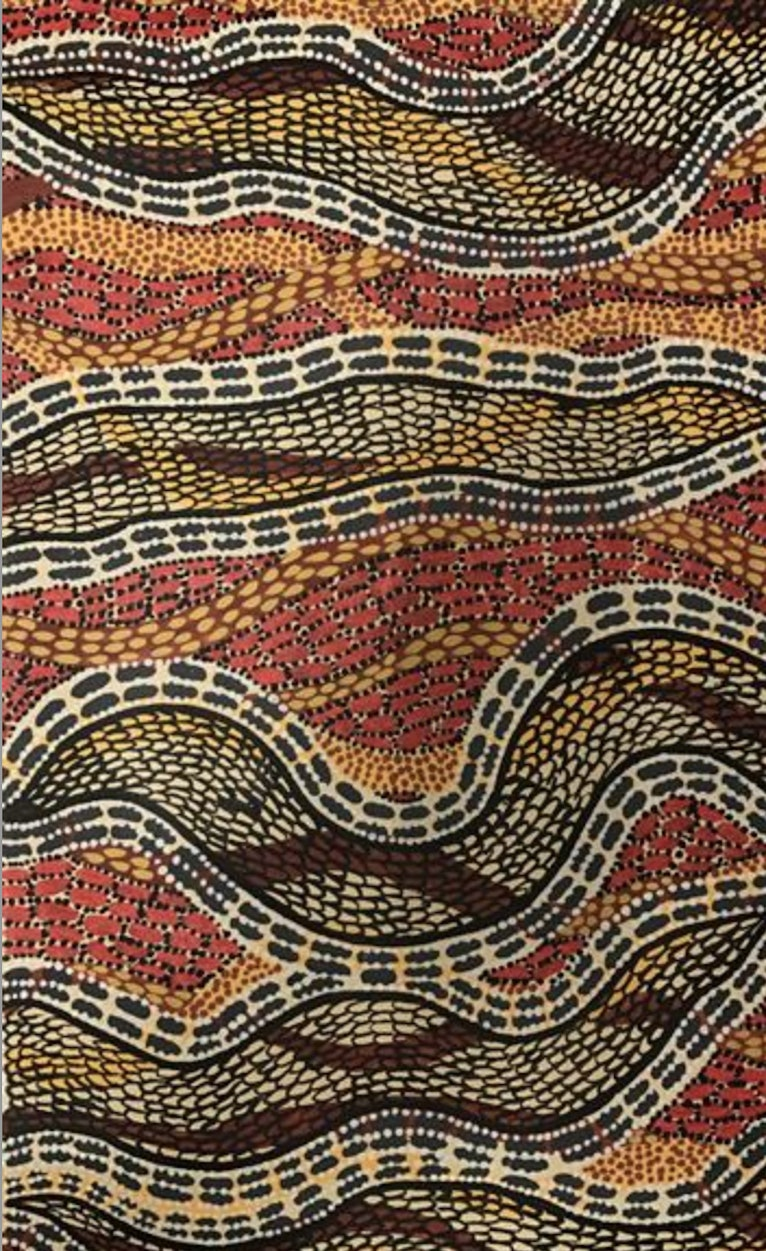 (CreativeWork) Snake Skin by Malcolm Wilson. arcylic-painting. Shop online at Bluethumb.