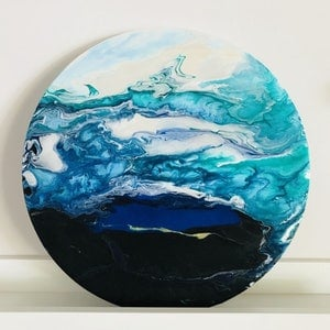 (CreativeWork) Deep Ocean by Virginia Harding. arcylic-painting. Shop online at Bluethumb.