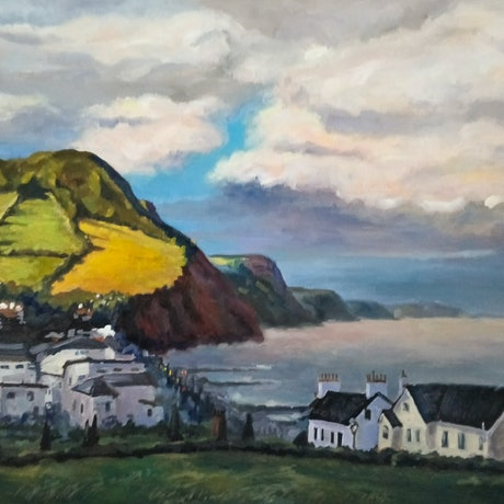 (CreativeWork) Early morning in Sidmouth by Katia Strounina. Oil Paint. Shop online at Bluethumb.