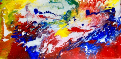 (CreativeWork) Firestorm by Robert Vallance. arcylic-painting. Shop online at Bluethumb.