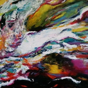 (CreativeWork) Confluent by Debra Dougherty. arcylic-painting. Shop online at Bluethumb.