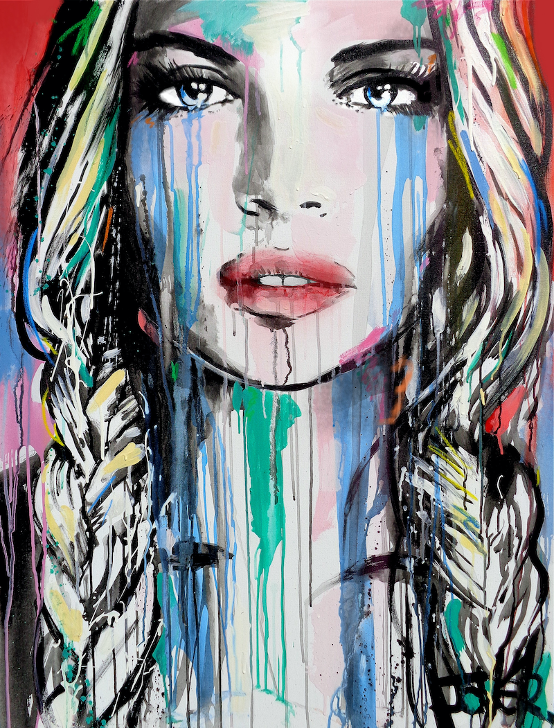 (CreativeWork) BRIGHTLY DEEPLY by loui jover. arcylic-painting. Shop online at Bluethumb.