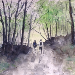 (CreativeWork) Lost Again, Naturally by Bernd Rieve. watercolour. Shop online at Bluethumb.