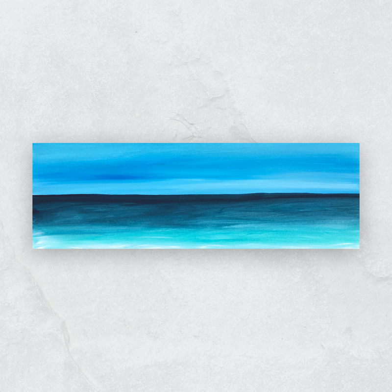 (CreativeWork) Bright Seascape View by Karol Ruszkiewicz. arcylic-painting. Shop online at Bluethumb.
