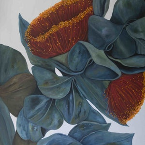 (CreativeWork)  Large Floating Gum Flowers by Maria Cross. arcylic-painting. Shop online at Bluethumb.