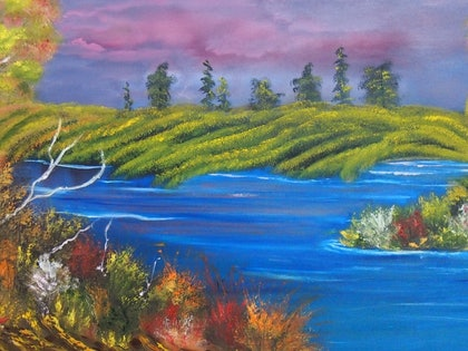 (CreativeWork) My special place by Belinda McDonnell. oil-painting. Shop online at Bluethumb.
