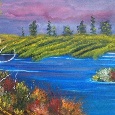 (CreativeWork) My special place by Belinda McDonnell. Oil Paint. Shop online at Bluethumb.
