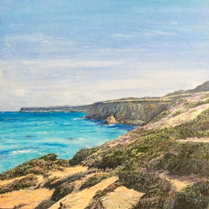 (CreativeWork) Nullarbor Whale Sanctuary by Henry Wood. arcylic-painting. Shop online at Bluethumb.