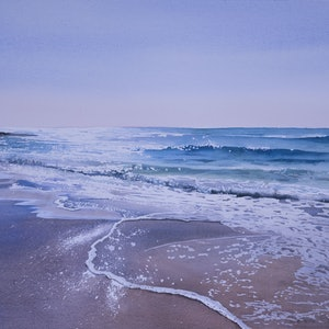 (CreativeWork) Receding Tide by Dellene Strong. watercolour. Shop online at Bluethumb.