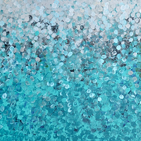 (CreativeWork) Hyams Beach Study #3 by Yara Seremuk. Acrylic Paint. Shop online at Bluethumb.