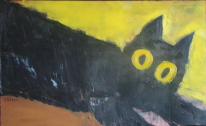 (CreativeWork) 3 colors Herbie by Ian Fraser. oil-painting. Shop online at Bluethumb.