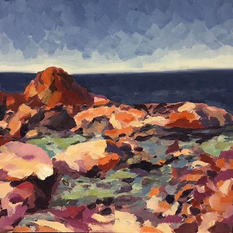 (CreativeWork) What a View by Chris mercer. Oil Paint. Shop online at Bluethumb.